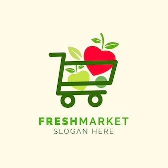 Logotipo de empresa comercial de mercado fresco