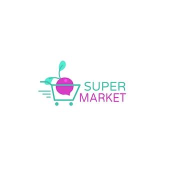 Logotipo de empresa comercial de supermercado