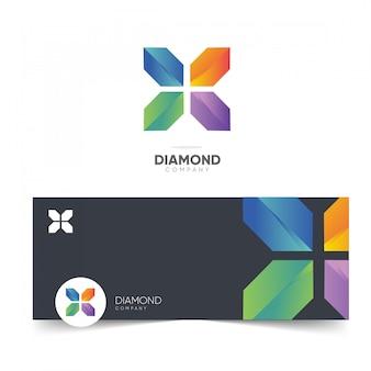 Logotipo de la empresa de diamantes