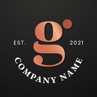 Logotipo de empresa elegante con diseño de letra g