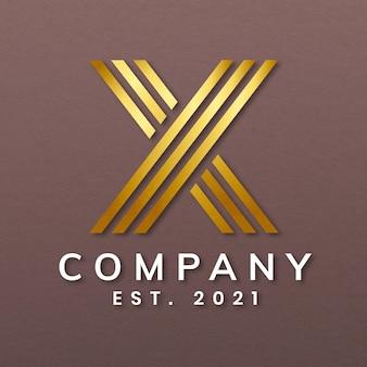 Logotipo de empresa elegante con diseño de letra x