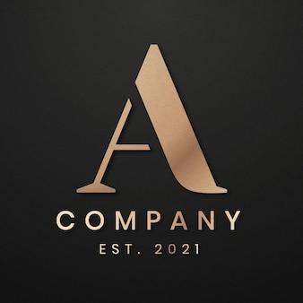 Logotipo de empresa elegante con diseño de letra a