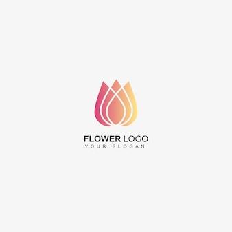 Logotipo de la empresa de flores