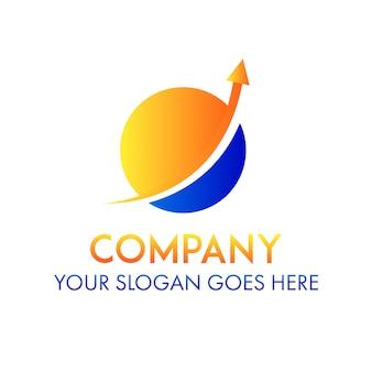 Logotipo de la empresa globo tecnología de negocios