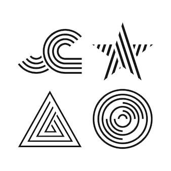Logotipo de empresa lineal minimalista