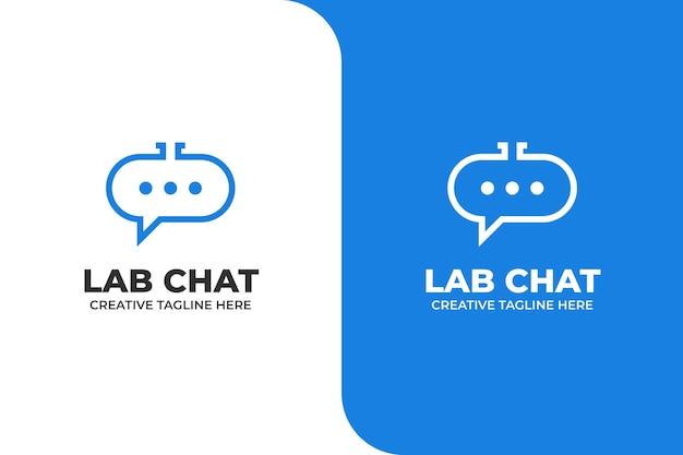 Logotipo de empresa de mensaje de burbuja simple chat