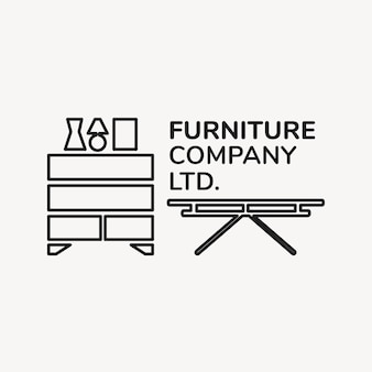 Logotipo de la empresa de muebles, plantilla de negocio para el diseño de marca xx, interior de la casa