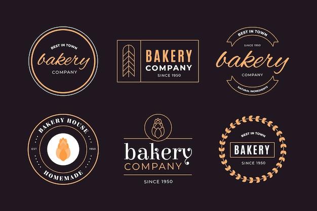 Logotipo de empresa de negocios de panadería retro