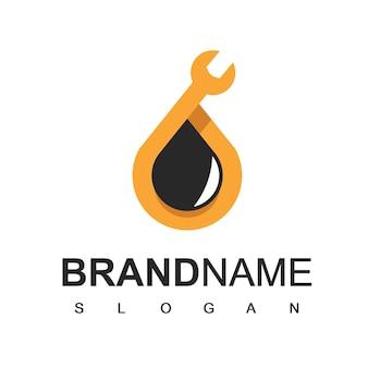 Logotipo de la empresa petrolera, símbolo de mantenimiento de aceite