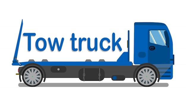 Logotipo de la empresa de remolque de automóviles, plantilla de letrero