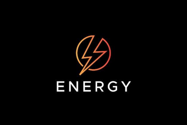 Logotipo de empresa de símbolo eléctrico de potencia y energía
