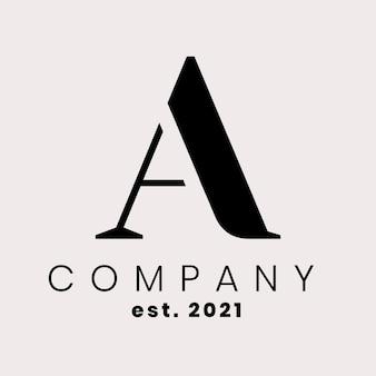 Logotipo de empresa simple con diseño de letra a