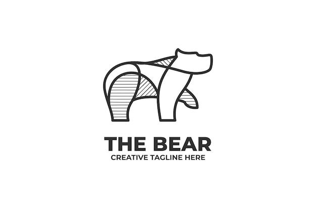 Logotipo de empresa simple de una línea de big bear