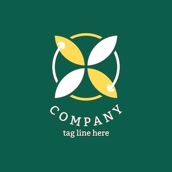 Logotipo de la empresa verde