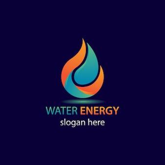 Logotipo de la energía del agua