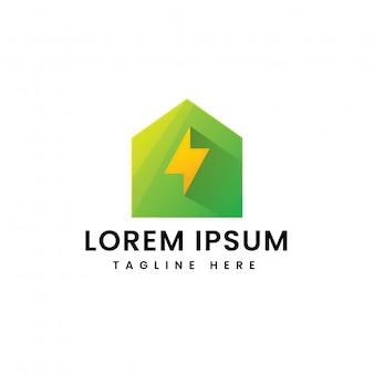 Logotipo de energía para el hogar inteligente