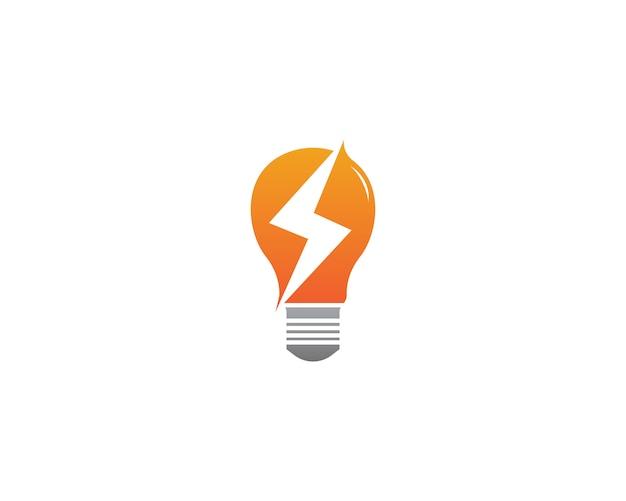 Logotipo de la energía de la lámpara