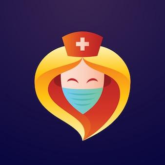 Logotipo de la enfermera