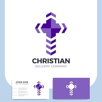 Logotipo de entrega cruzada.
