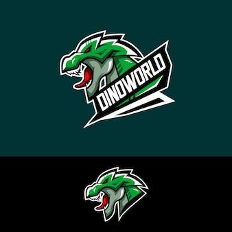 Logotipo del equipo e-sports con dino.
