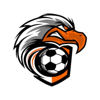 Logotipo del equipo eagle head football