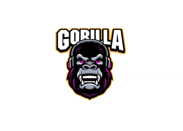 Logotipo del equipo gorilla gaming esport