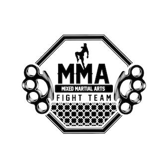 Logotipo del equipo mma fight