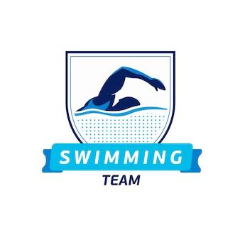 Logotipo del equipo de natación de vector