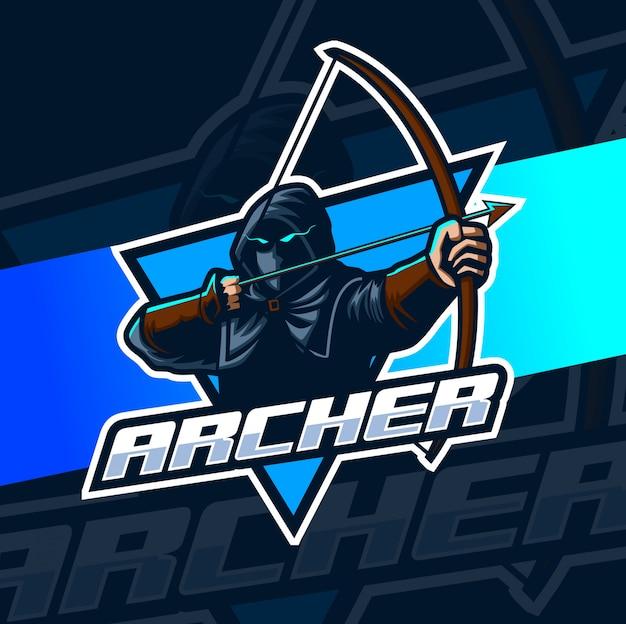 Logotipo de escher mascota archer