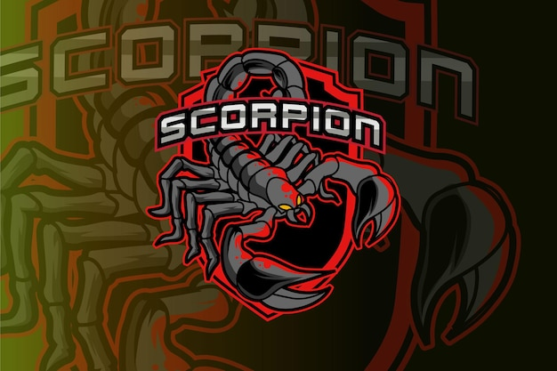 Logotipo de escorpión para club deportivo o equipo.