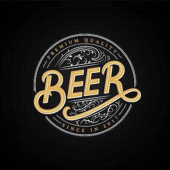 Logotipo escrito a mano de cerveza