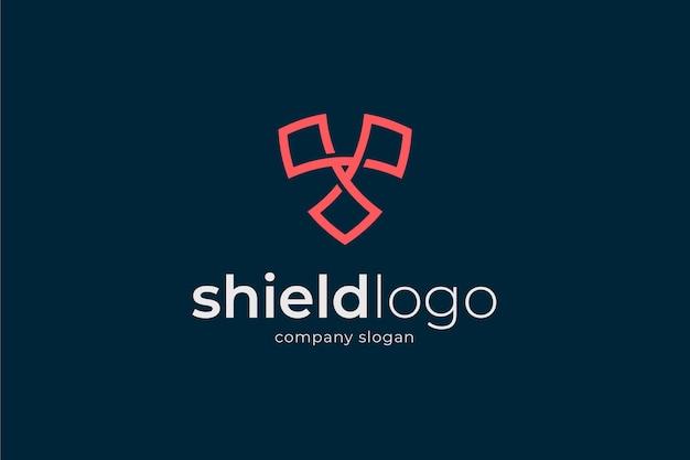 Logotipo de escudo abstracto.
