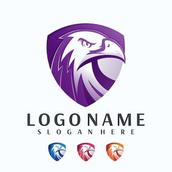 Logotipo de escudo de águila