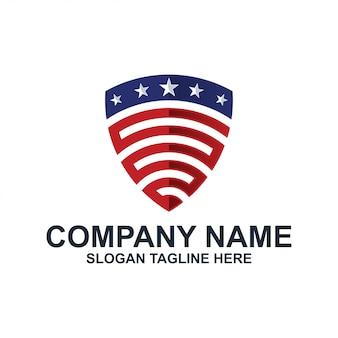 Logotipo de escudo americano