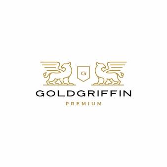 Logotipo del escudo de armas de griffin