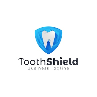Logotipo de escudo dental