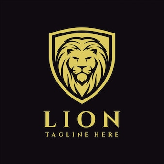 Logotipo de escudo de león