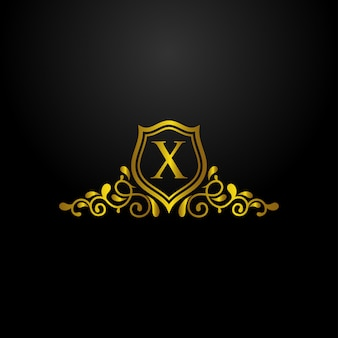 Logotipo de escudo de lujo