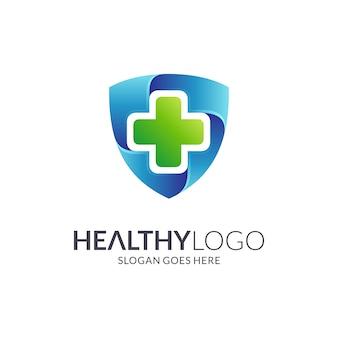 Logotipo de escudo médico
