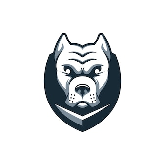 Logotipo de escudo de perro