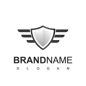 Logotipo de escudo, símbolo cyber secure y fuerte