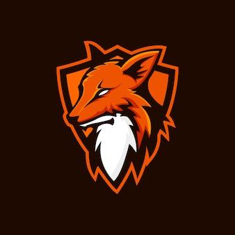 Logotipo de escudo de zorro