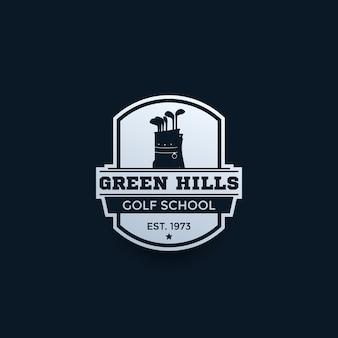 Logotipo de la escuela de golf