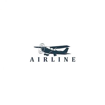 Logotipo de espacio de aviación de avión