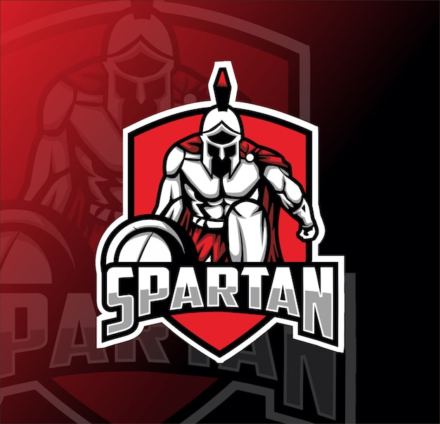 Logotipo de espartan mascota esport