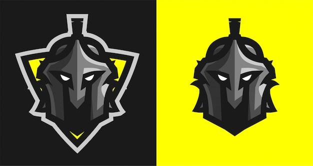 Logotipo espartano con escudo e-sport
