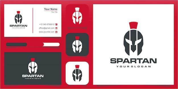 Logotipo espartano, logotipo de sparta, logotipo de casco espartano.