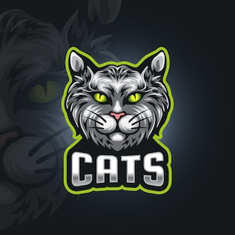Logotipo de esport de gatos
