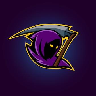 Logotipo de esport grim reaper