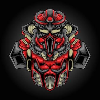 Logotipo de esport de ilustración de robot de combate